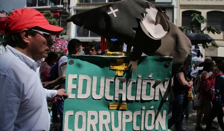 Paro estudiantil: Con movilización en Tunja exigirán la renuncia del fiscal general