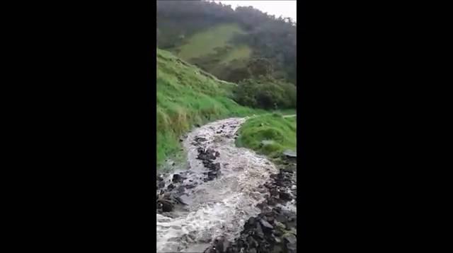 [Vídeo] Lluvias torrenciales causan emergencia en Chiscas, Boyacá - Caracol Radio
