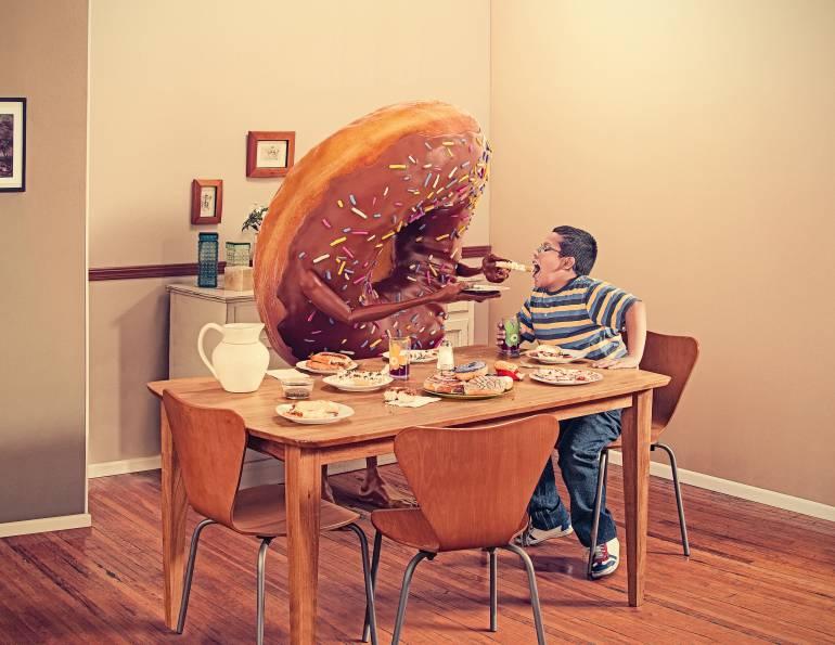 Información sobre alimentación sana, estrategia contra la obesidad