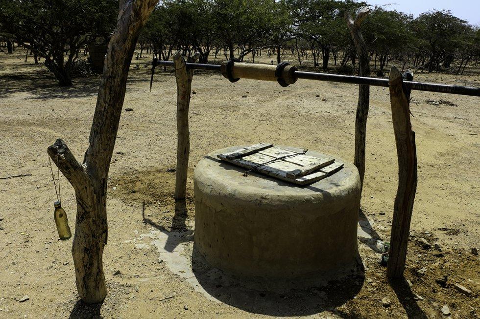 El pozo fue cerrado por la sequía. Hace más de cinco años no llueve.