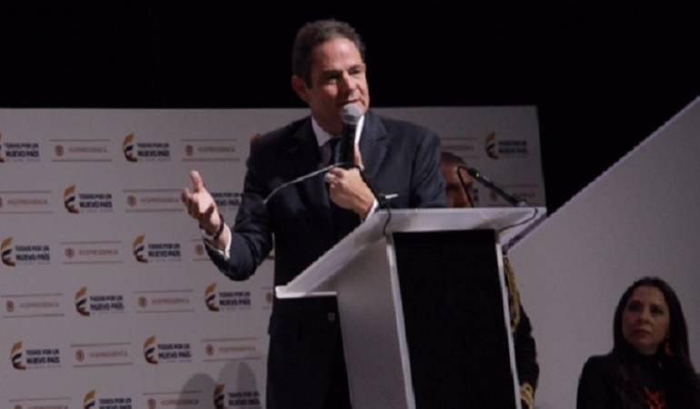 Germán Vargas Llerras durante la rendición de cuentas para la entrega de su cargo como vicepresidente.