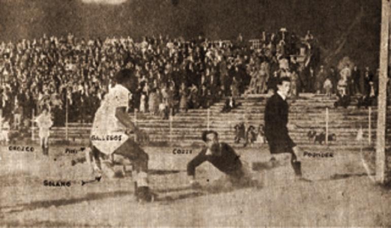 El gol del árbitro Mr Pounder en 1950