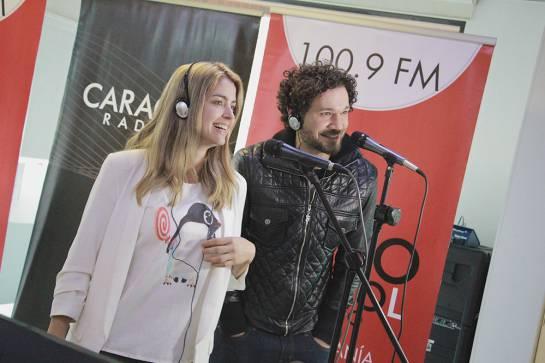 """Cristina Hurtado y José Narváez, los presentadores del reality """"Guerreros"""": Cristina Hurtado y José Narváez también son """"guerreros"""" en el karaoke"""