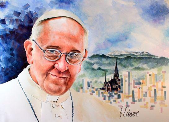 Bendición y firma del papa Francisco, eso obtuvo el cuadro de un pintor colombiano: Bendición y firma del papa Francisco, eso obtuvo el cuadro de un pintor colombiano