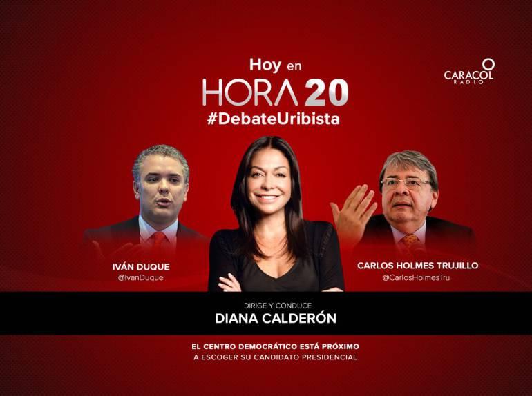 Hora 20 debate con los precandidatos del uribismo