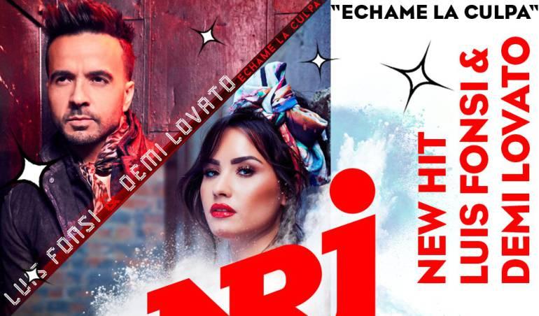 "Luis Fonsi y Demi Lovato en ""Échame la culpa"""