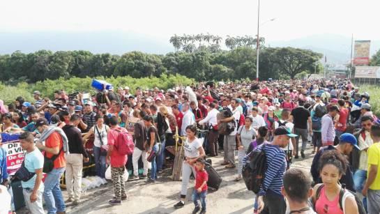 Ingreso de venezolanos en zona de frontera