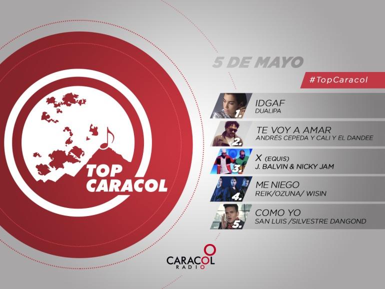 Top Caracol 5 de mayo
