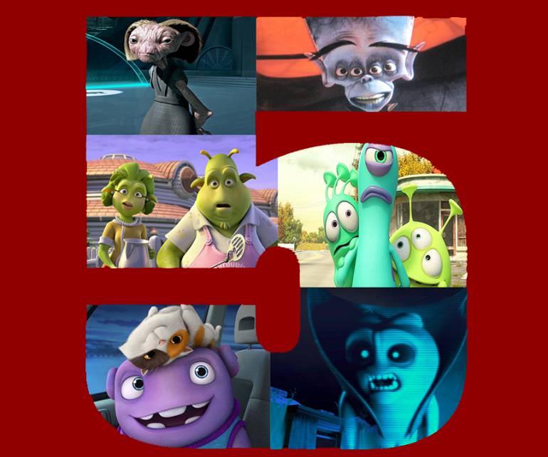 Top 5 de películas sobre extraterrestres animados por computador: Top 5 de extraterrestres animados por computador en el cine