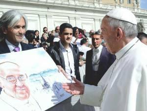 Luis Fernando estuvo con el Papa Francisco