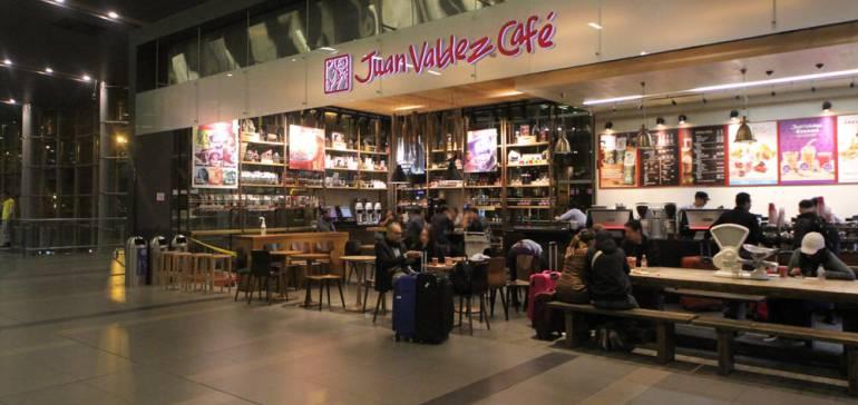 Tienda Juan Valdez en el aeropuerto El Dorado