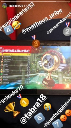 ¿Qué jugador de la Selección Colombia es mejor en Mario Kart?