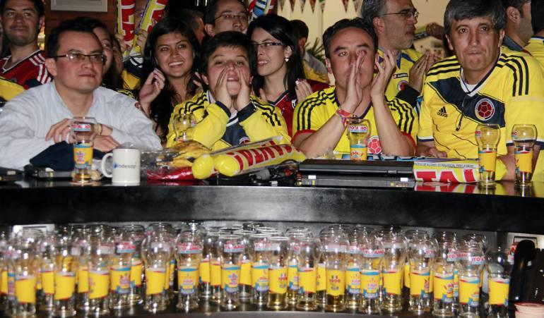 Ley Seca Bares: No habrá ley seca durante los partidos de la Selección Colombia