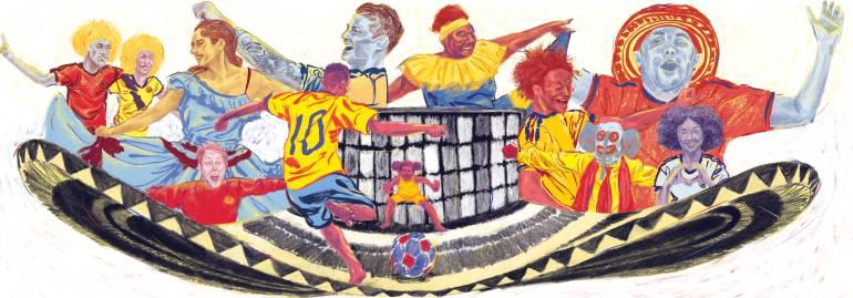 Doodle Colombiano con el sabor de la patria