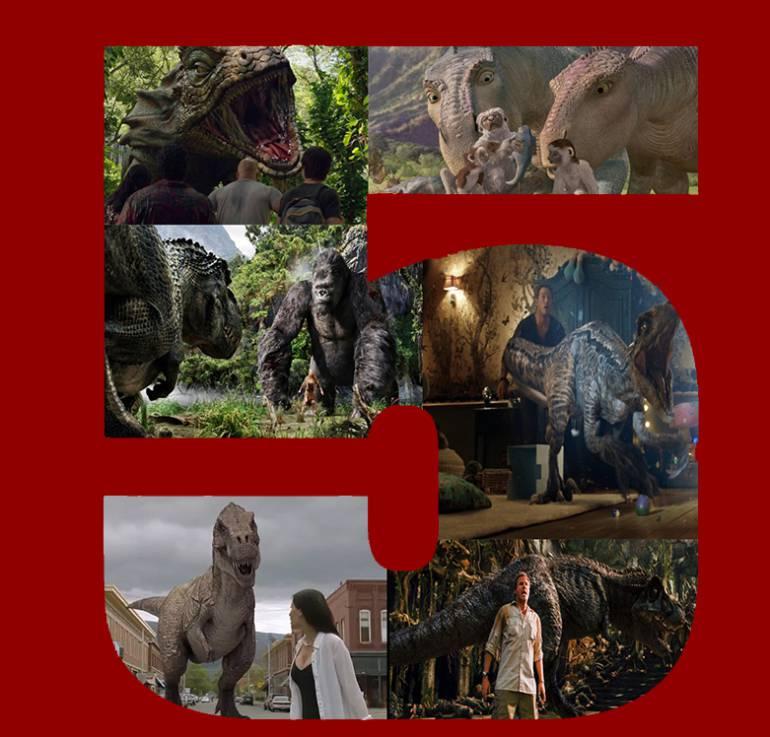 Top 5 de los dinosaurios en el cine: Top 5 de los Dinosaurios en el cine