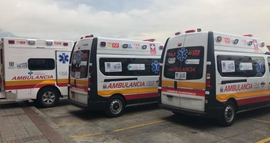 Ambulancias en Bogotá: Empiezan a funcionar 41 nuevas ambulancias en Bogotá