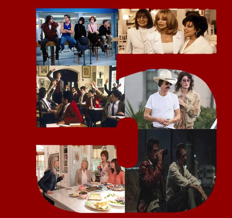 top 5 de películas sobre clubes cinematográficos: Top 5 de películas sobre clubes, en el cine