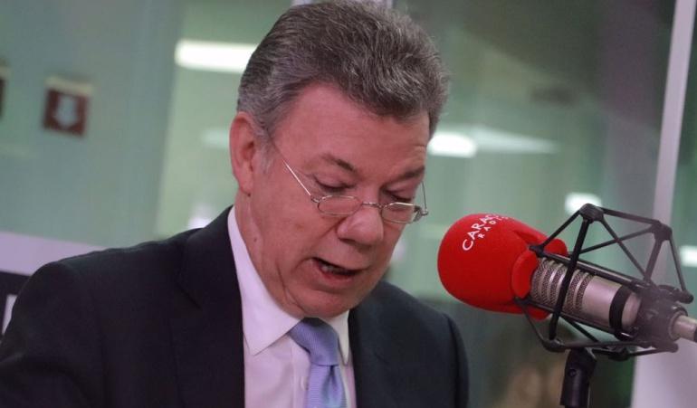 """Entrevista Hora 20 con Santos: """"No veo mucho margen en esta coyuntura para bajar impuestos"""""""