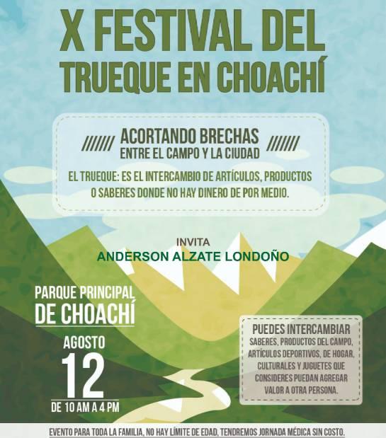 Festival del Trueque: Un trueque entre citadinos y campesinos, el 12 de agosto en Choachí