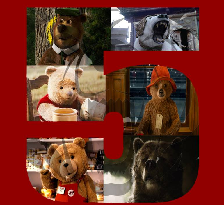Top 5 de osos animados por computador en live-action: Top 5 de osos animados por computador en live-action