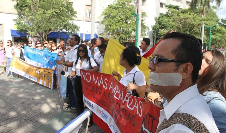 Periodistas asesinados, marchas.