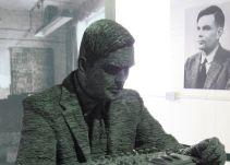 Figura de Alana Turing en Bletchley Park.