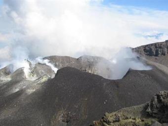Se mantiene la alerta máxima en el Volcán Galeras