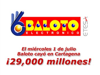 El Baloto cayó en Cartagena, el ganador recibirá 29 mil millones