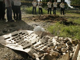Descubren cementerio indígena en  un colegio en Montería
