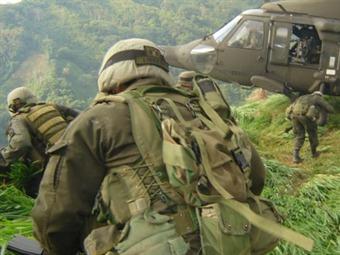 Un policía muerto y otro herido dejan hostigamientos de las Farc en Retorno, Guaviare