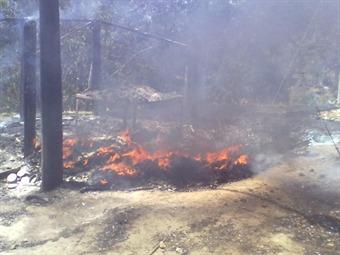 Cerrada la carretera a Ituango, Antioquia, tras quema de buses por parte de las Farc