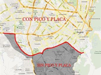 Este martes empieza el nuevo 'pico y placa' en Bogotá