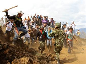 Indígenas liberaron a los 30 soldados retenidos en Jambaló, Cauca