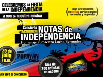 Con un concierto desde Popayán, Colombia celebra 202 años del grito de Independencia