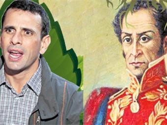 Chavistas desestiman teoría que asegura que Capriles es descendiente de Simón Bolívar