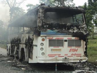 Continúan ataques de las Farc contra el transporte en Antioquia