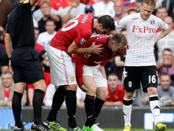 Rooney será baja del Manchester United durante cuatro semanas