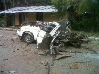 Atribuyen a las Farc explosión de carro que dejó seis personas muertas en el Meta