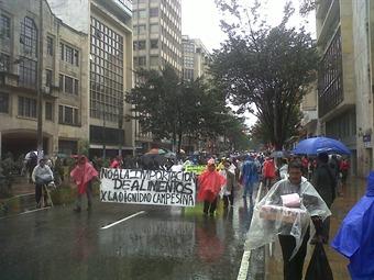 Más de 3.000 productores de papa marcharon por el centro de Bogotá