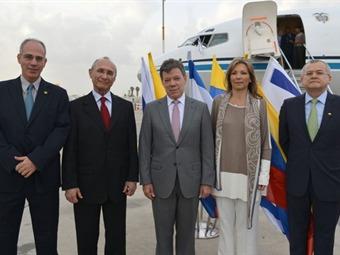 Presidente Santos llega a Israel con el TLC como prioridad