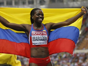 Caterine Ibargüen logra histórico oro en mundial de atletismo