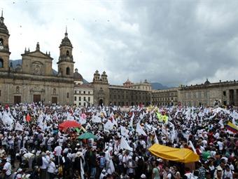 Hoy hay marcha en silencio a favor de campesinos en Bogotá