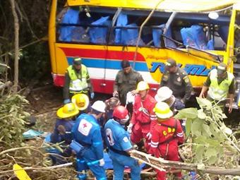 Mueren tres personas por accidente en la vía Bogotá-Fusa