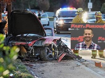 """Así quedó el auto en el que murió protagonista de """"Rápido y Furioso"""""""