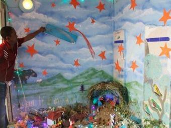 Elaboración de pesebres pretende mitigar violencia en Cárcel de Cartagena