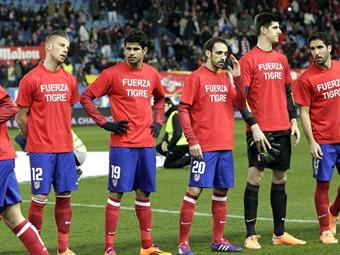 """Falcao agradece el """"Fuerza Tigre"""" de las camisetas del Atlético de Madrid"""
