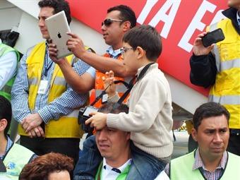 Alejandro, el niño privilegiado que vio primero la Copa Mundo