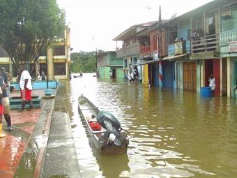 Más de 300 viviendas afectadas por inundación en Magüi Payán, Nariño