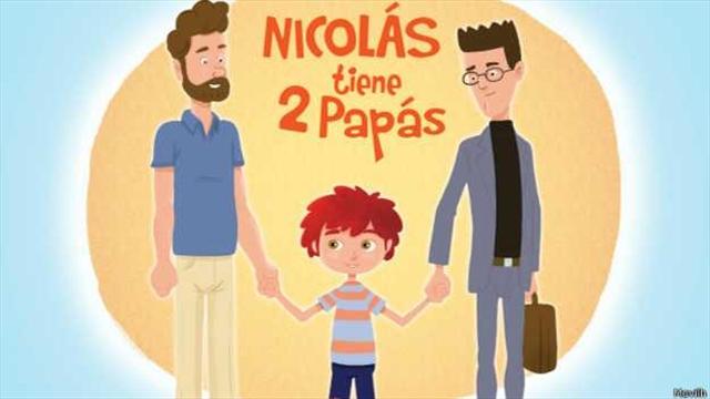 """""""Nicolás tiene dos papás"""": un libro que causa polémica"""