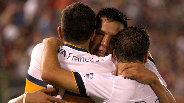 Boca goleó 4-1 a Cerro Porteño y avanzó a semifinales de la Sudamericana